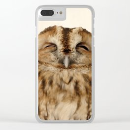 Sleepy Owl Clear iPhone Case