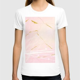Rose Gold Marble Burst T-shirt