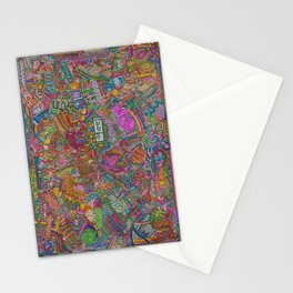 Cat in many Languages Stationery Cards