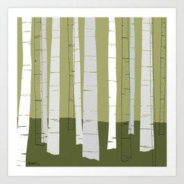 Quiet Birches Art Print