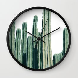 Cactus Line Wall Clock
