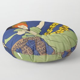 Vintage poster - Livorno Stagione Balneare Floor Pillow