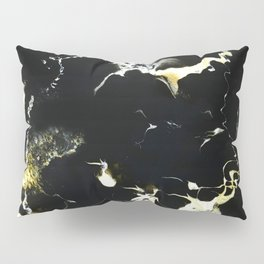 Black and Gold Abstract Pillow Sham