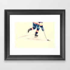 The Sport Of Hockey Framed Art Print