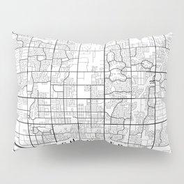 Chandler Map, Arizona USA - Black & White Portrait Pillow Sham