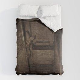 nobunny in the basement Comforters