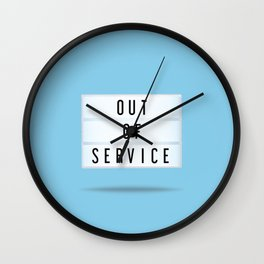 Out of Service Wall Clock