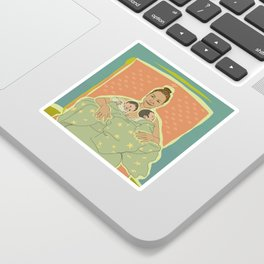 Mother with Twins Sticker