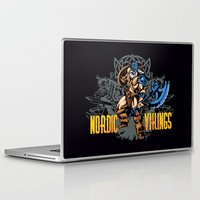 vikings Laptop & iPad Skins featuring Nordic Vikings by TsHirtZmaNia