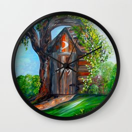 Outhouse - PRIVY Wall Clock