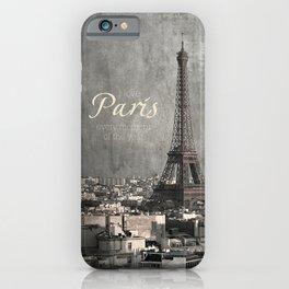 I love Paris {bw iPhone Case