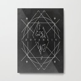 Dovahkin Metal Print