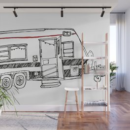 Three wheeled house Wall Mural