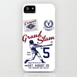 Varsity Baseball Team - Grand Slam iPhone Case