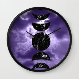 Marbled Moon Phases #3 #decor #art #society6 Wall Clock