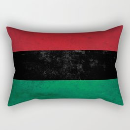 Distressed Afro-American / Pan-African / UNIA flag Rectangular Pillow