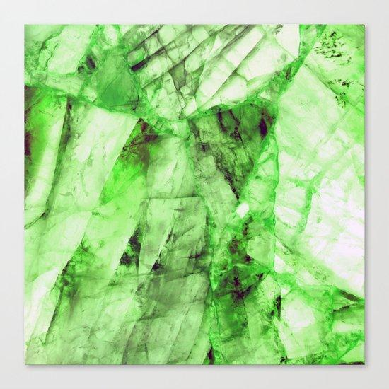 Green crystal Canvas Print