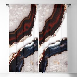 Red meets Blue - Agate Translucent #1 #decor #art #society6 Blackout Curtain