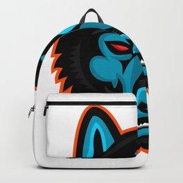 Timber Wolf Head Sports Mascot Backpack