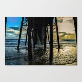 Sky Painting (Oceanside Pier) ~ 10-2015 Canvas Print