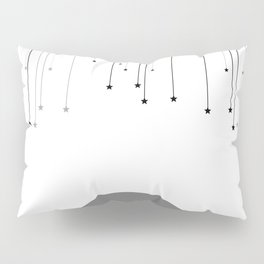 Falling Stars White Pillow Sham