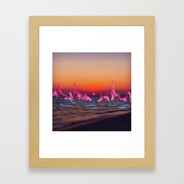 Sunset at 6 Framed Art Print