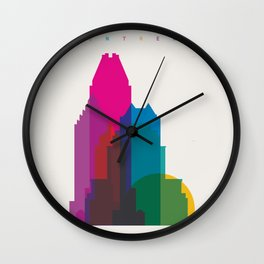 Shapes of Montreal. Accurate to scale. Wall Clock
