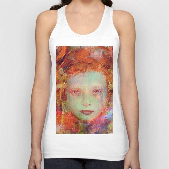 Autumnal girl Unisex Tank Top