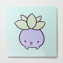 Happy Turnip Metal Print