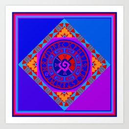 Astrological Hunab Ku Art Print