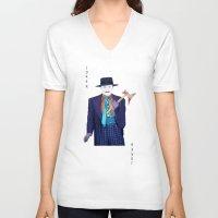 jack nicholson V-neck T-shirts featuring Jack the Joker by Dano77