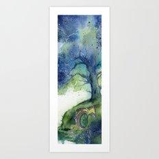 Oak Tree Fireflies Art Print