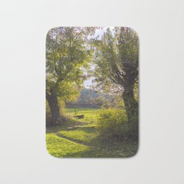 Forest, sunset, art photography at the bulgarian village Lisicite Bath Mat
