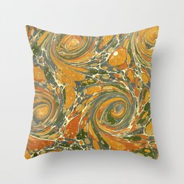 Old Marbled Paper 03 Throw Pillow