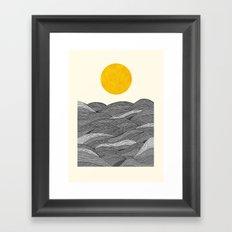 The Grey Waves Framed Art Print