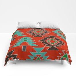 Navajo with pine trees Comforters