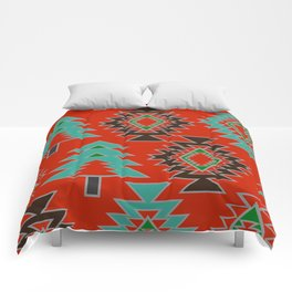 Navajo with pine trees Comforters