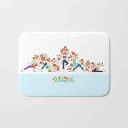 Yoga Girls_Growing With Poses_Robin Pickens Bath Mat