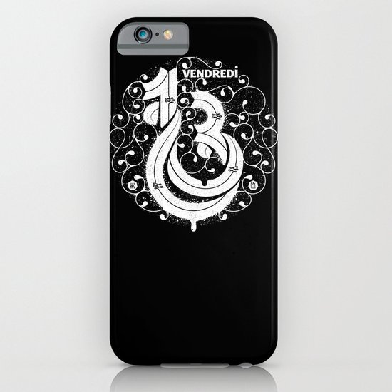 Vendredi 13 monogram iPhone & iPod Case