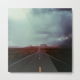 Monument Valley Sandstorm Metal Print