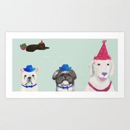 Birthday Bunch Art Print