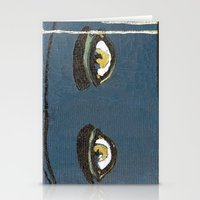 gatsby Stationery Cards featuring Gatsby Stare  by Julia Lopez