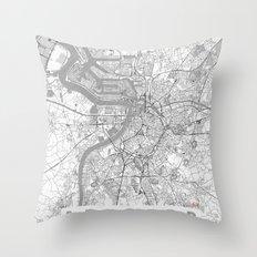 Antwerp Map Line Throw Pillow