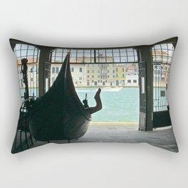 Gondola on Giudecca Island, Grand Canal, Venice Rectangular Pillow