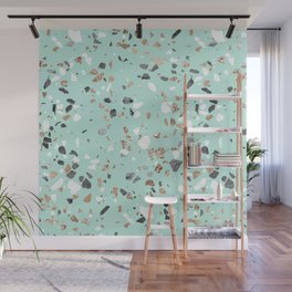 Glitter and Grit Marble Mint Green Wall Mural