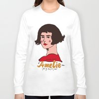 amelie Long Sleeve T-shirts featuring Amelie Print 3 by Saffa Khan