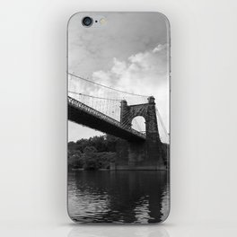 Wheeling Suspension Bridge - B&W iPhone Skin