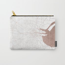 Dublin White on Rosegold Street Map II Carry-All Pouch