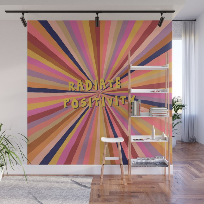 Radiate Positivity Wall Mural
