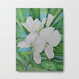 Hawaiian White Ginger Metal Print